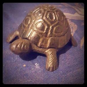 Wrought iron turtle ring box